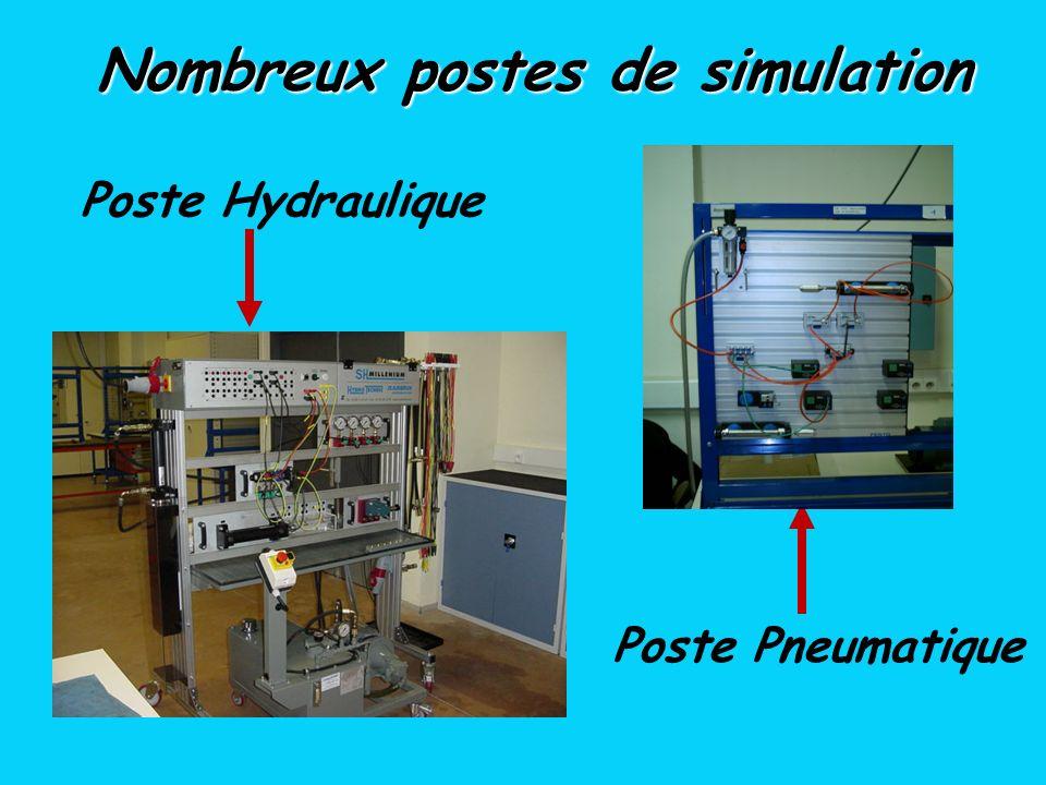 Poste Pneumatique Poste Hydraulique Nombreux postes de simulation