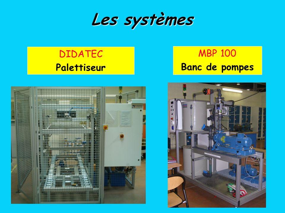 DIDATEC Palettiseur MBP 100 Banc de pompes