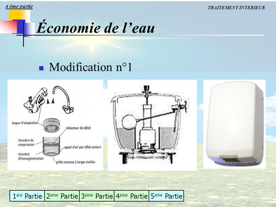 1 è re Partie2 è me Partie3 è me Partie4 è me Partie5 è me Partie Économie de leau Modification n°1 4 ème partie TRAITEMENT INTERIEUR