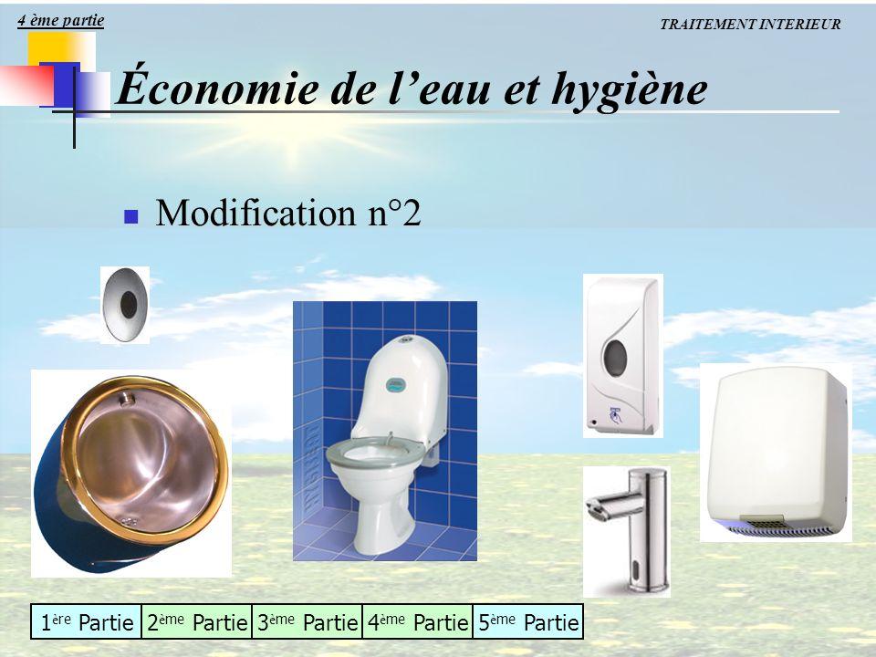 1 è re Partie2 è me Partie3 è me Partie4 è me Partie5 è me Partie Modification n°2 Économie de leau et hygiène 4 ème partie TRAITEMENT INTERIEUR