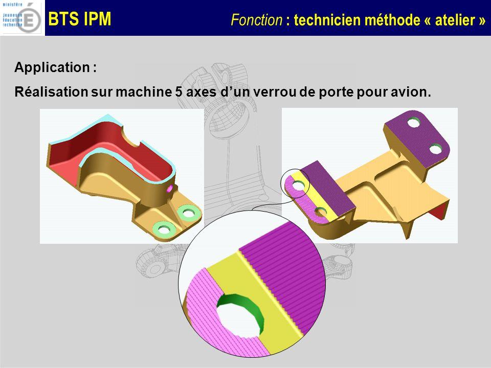 BTS IPM Fonction : technicien méthode « atelier » Quelles sont les difficultés que présente cette pièce, qui ont été prises en compte lors de la qualification et loptimisation de processus .