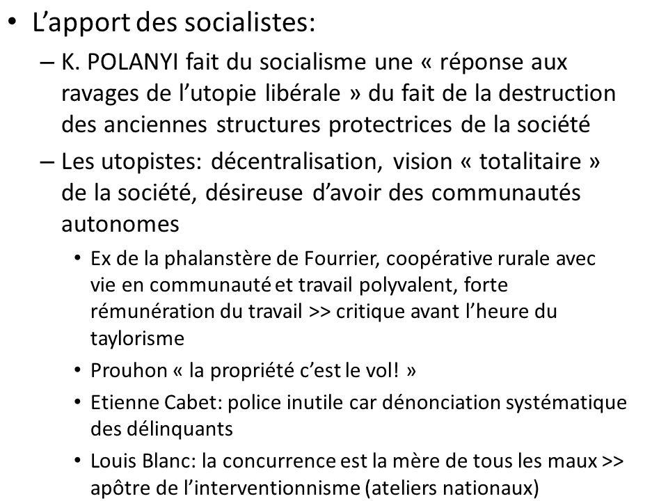 Lapport des socialistes: – K.