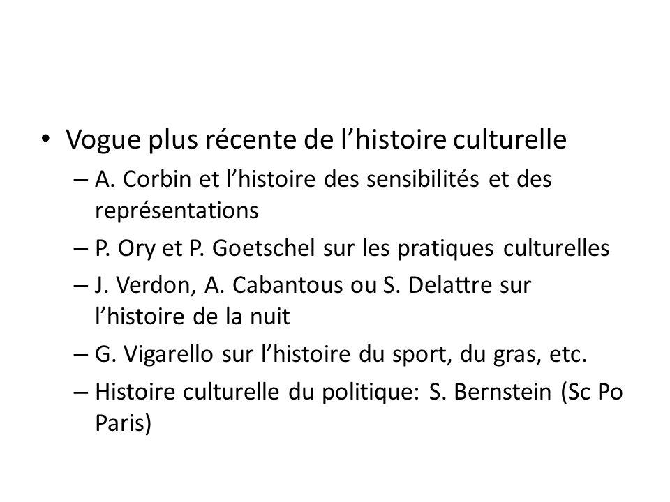 Vogue plus récente de lhistoire culturelle – A.