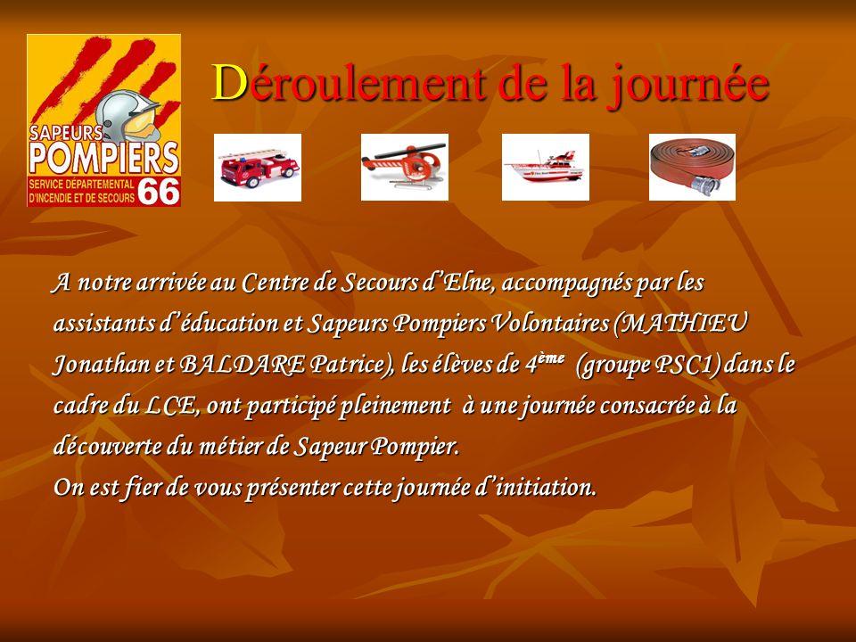 1) Découverte du métier de SP Après notre 1 er contact avec la garde journalière, nous avons parlé des différentes missions et fonctions des Sapeurs Pompiers.