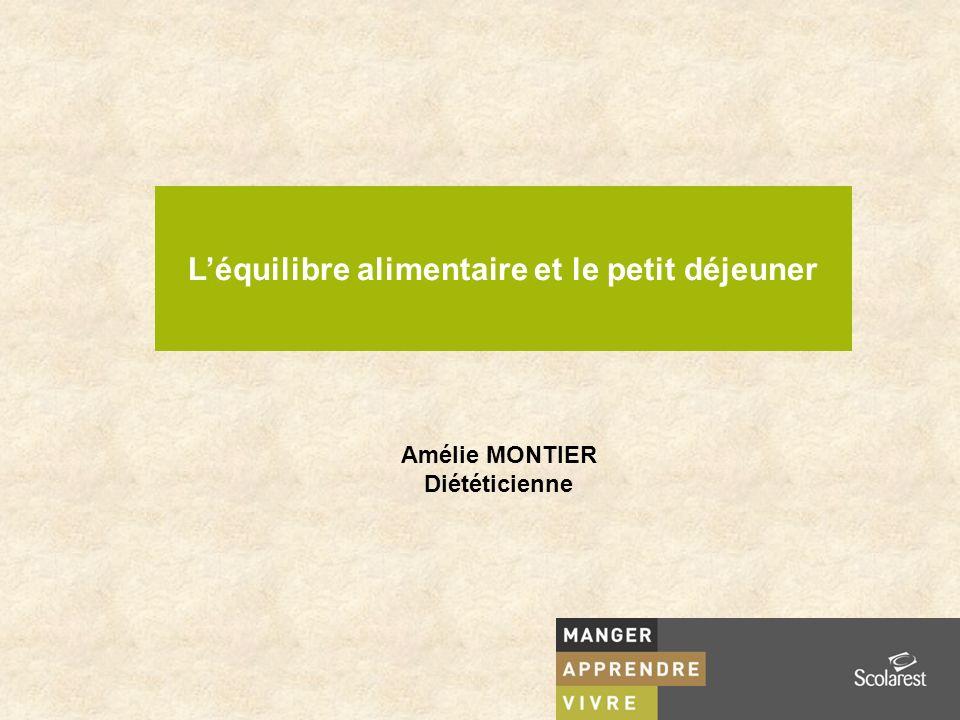 Léquilibre alimentaire et le petit déjeuner Amélie MONTIER Diététicienne