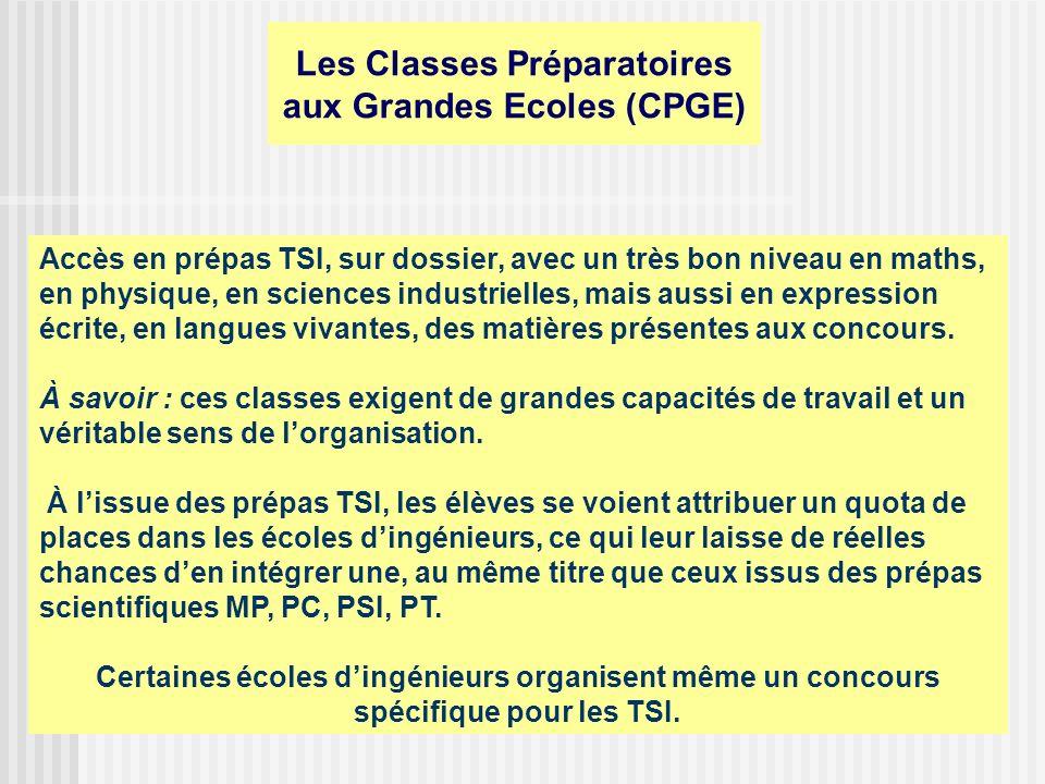 Classe Préparatoire Polytechnique (C.P.P.) Implanté au sein des 3 instituts nationaux polytechniques de Grenoble (I.N.P.G.), de Nancy (I.N.P.L.) et de Toulouse (I.N.P.T.), et bientôt Bordeaux, le C.P.P.