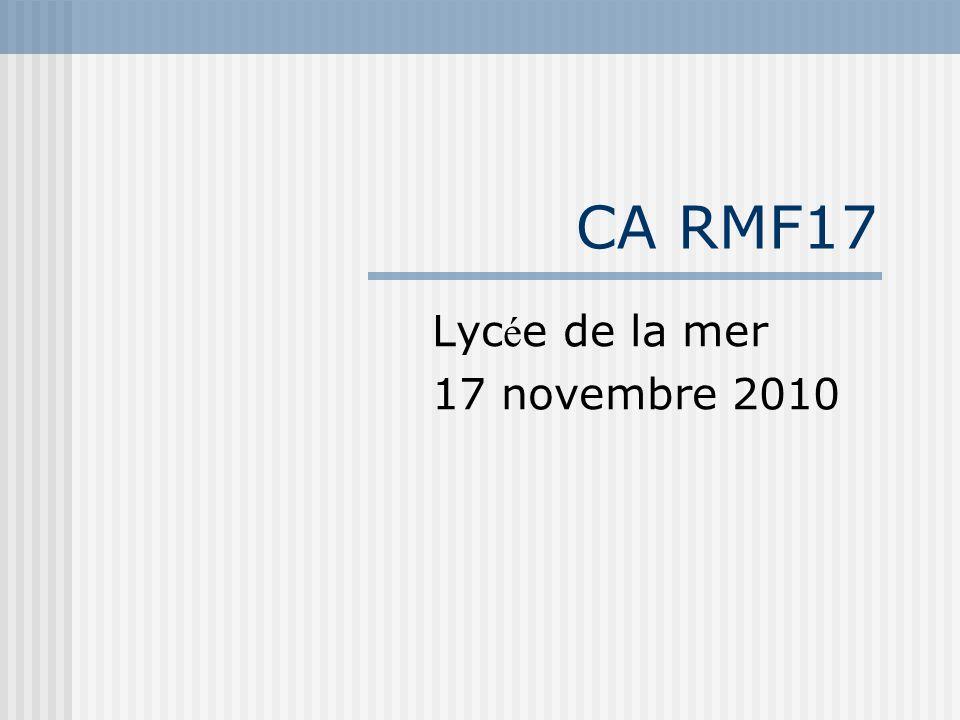 CA RMF17 Lyc é e de la mer 17 novembre 2010