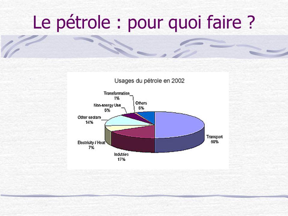 Le pétrole : pour quoi faire ? -