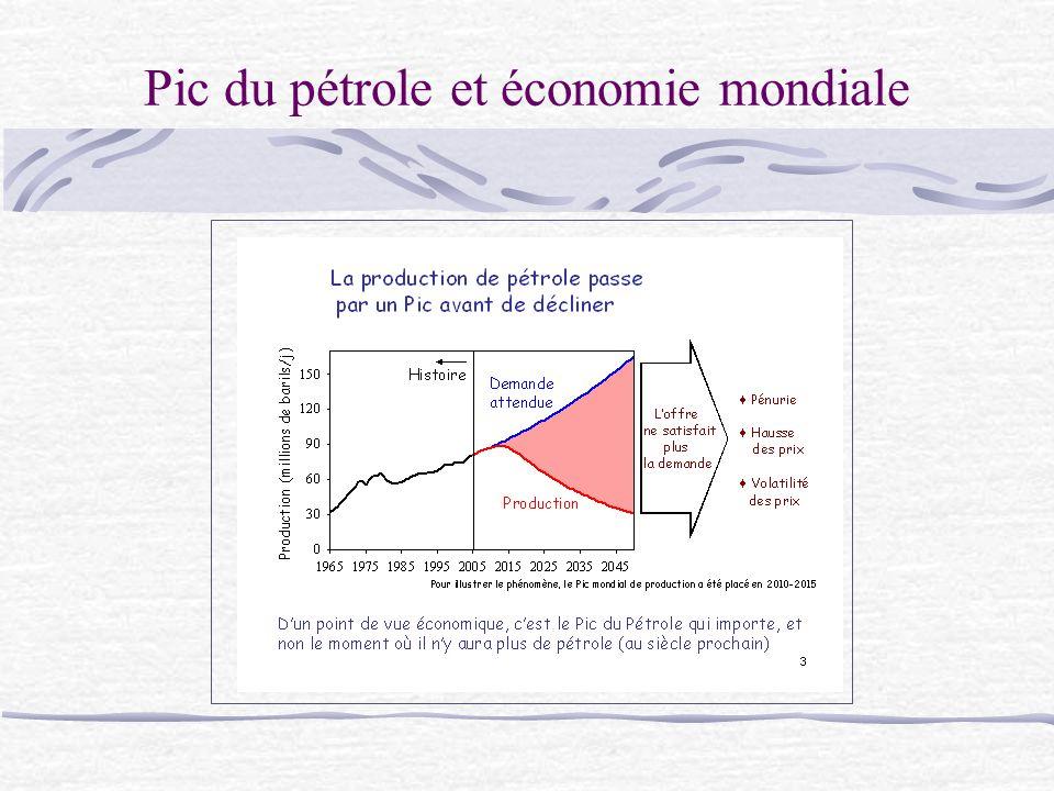 Pic du pétrole et économie mondiale