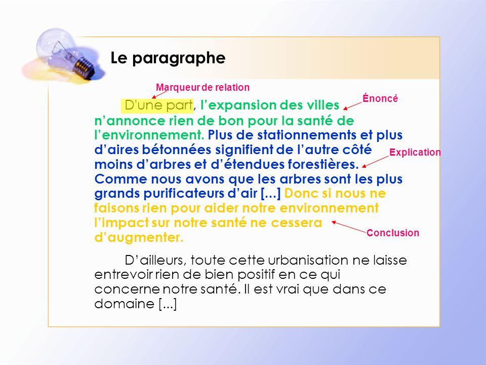 La conclusion Si lon continue notre comparaison, la conclusion sera comme les pieds de ton texte.