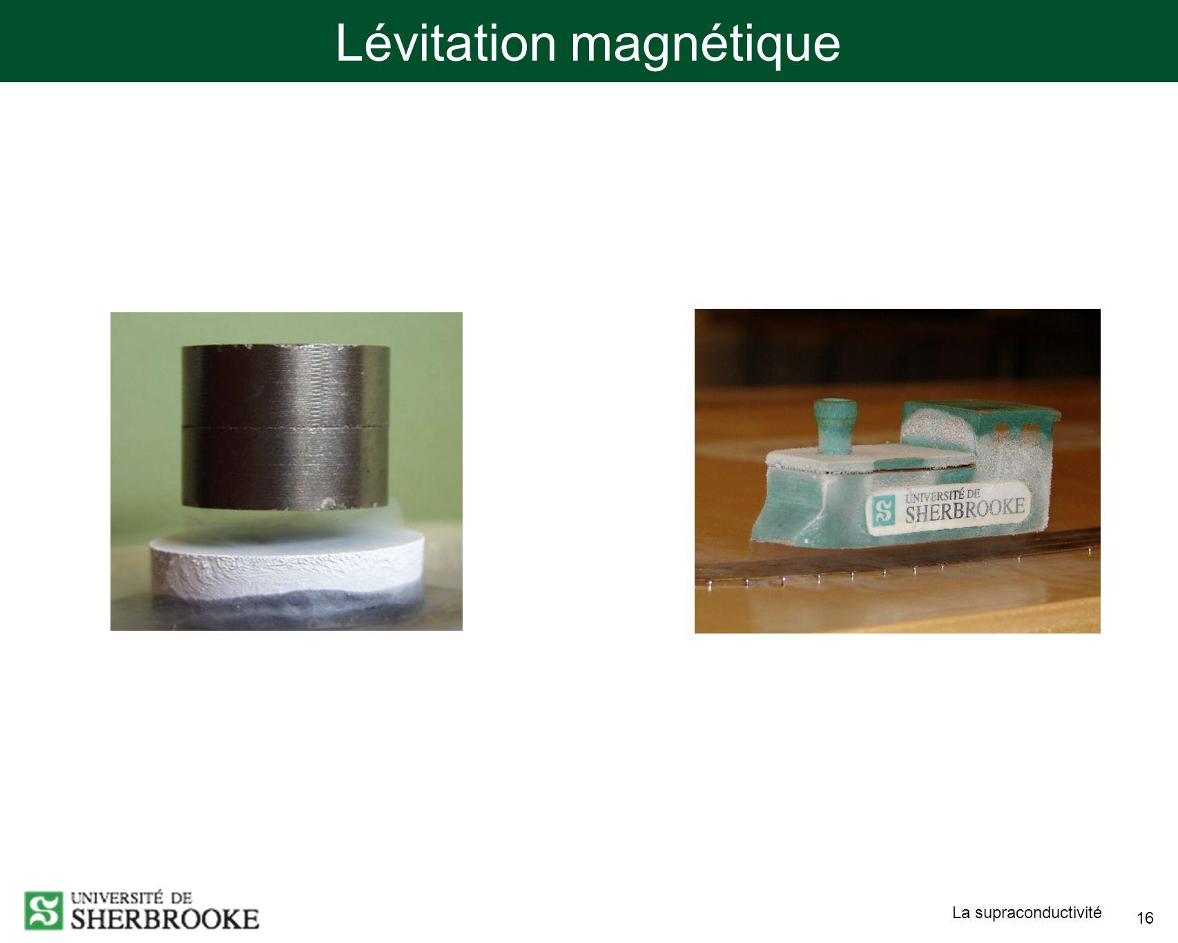 La supraconductivité 16 Lévitation magnétique