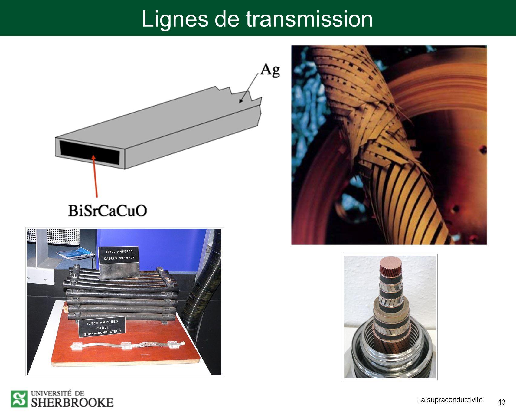 La supraconductivité 43 Lignes de transmission