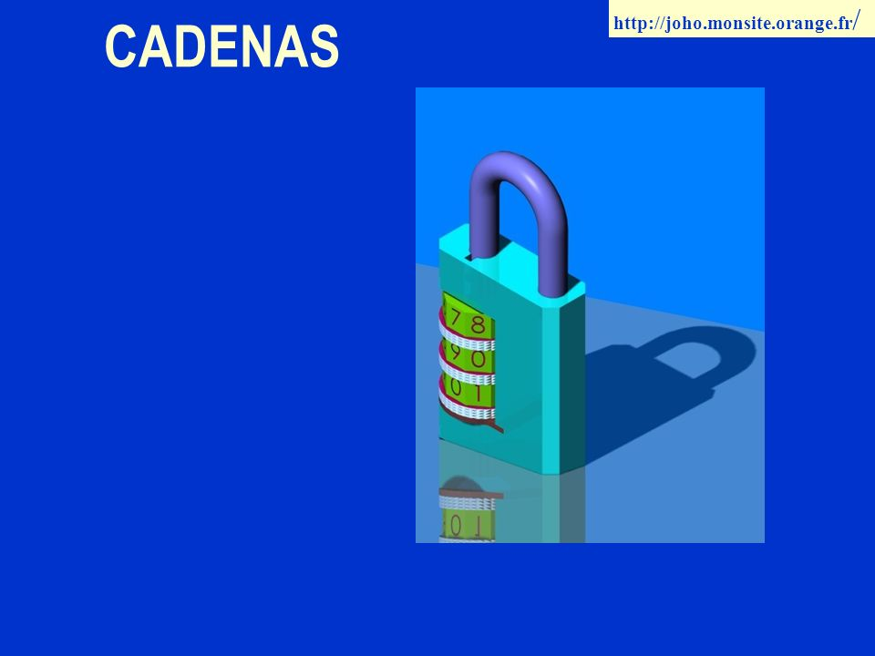 CADENAS http://joho.monsite.orange.fr /