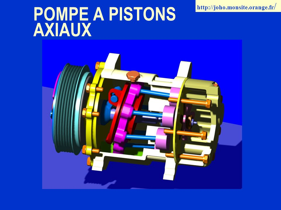 POMPE A PISTONS AXIAUX http://joho.monsite.orange.fr /