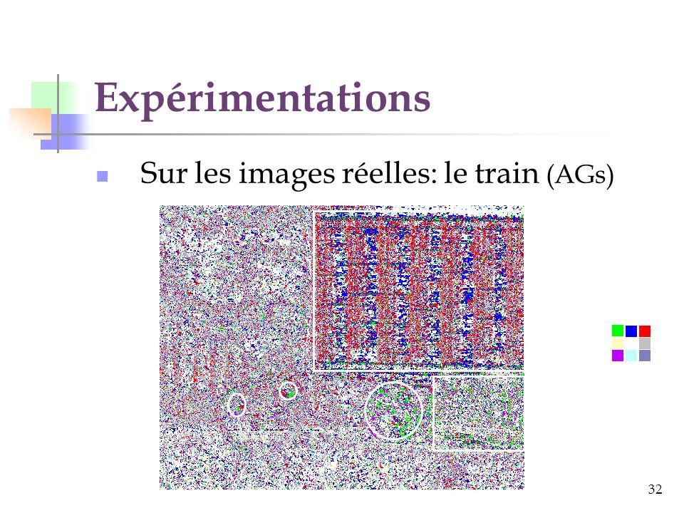 32 Expérimentations Sur les images réelles: le train (AGs)