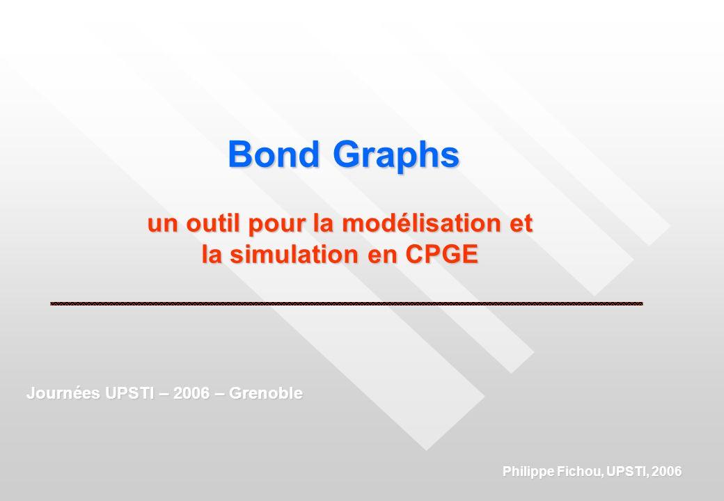 Bond Graphs un outil pour la modélisation et la simulation en CPGE Philippe Fichou, UPSTI, 2006 Journées UPSTI – 2006 – Grenoble