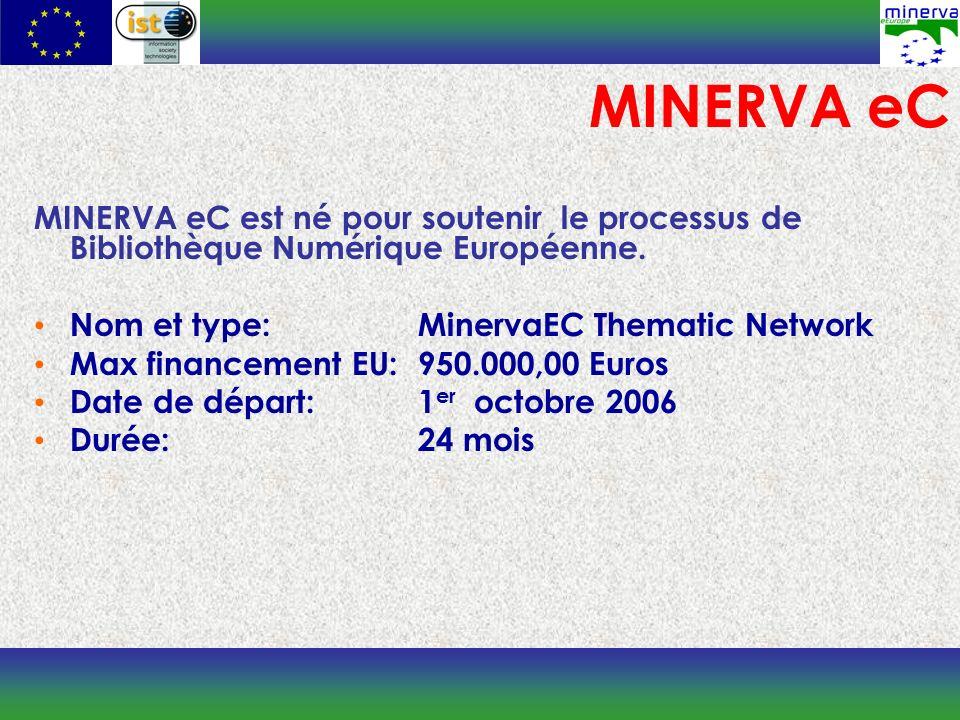 MINERVA eC est né pour soutenir le processus de Bibliothèque Numérique Européenne.