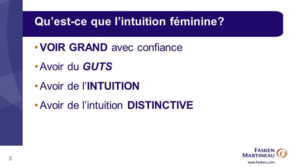 5 Quest-ce que lintuition féminine.