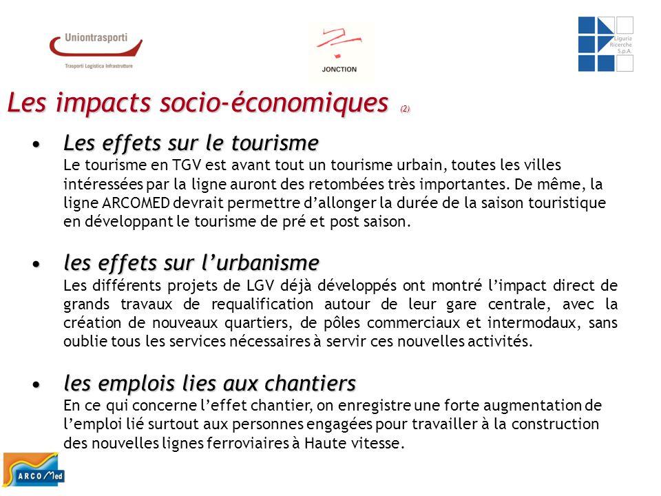Les impacts socio-économiques (2) Les effets sur le tourismeLes effets sur le tourisme Le tourisme en TGV est avant tout un tourisme urbain, toutes le