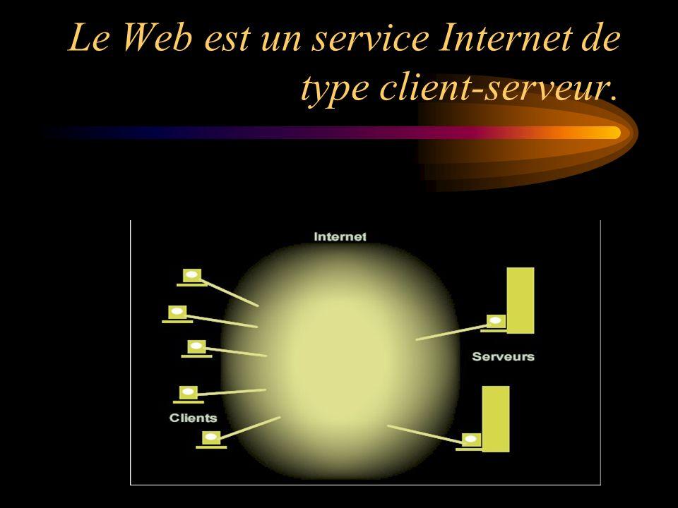 Le Web est un service Internet de type client-serveur.