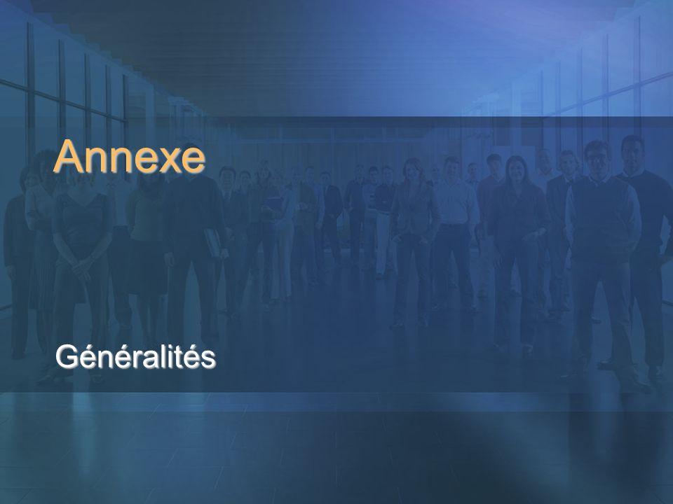 Annexe Généralités