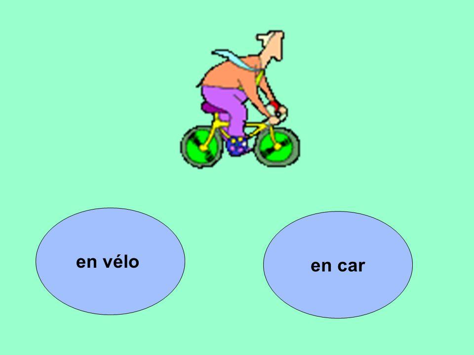 en car en vélo