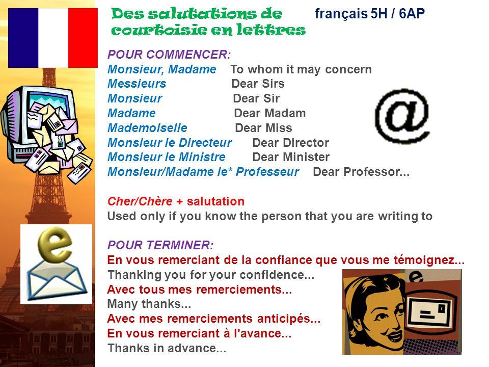 français 5H le 26 octobre 2011 ActivitéClasseur MAINTENANT S.V.P. : EXAMENS : Corrections La session précédente POUR COMMENCER : Des salutations en le