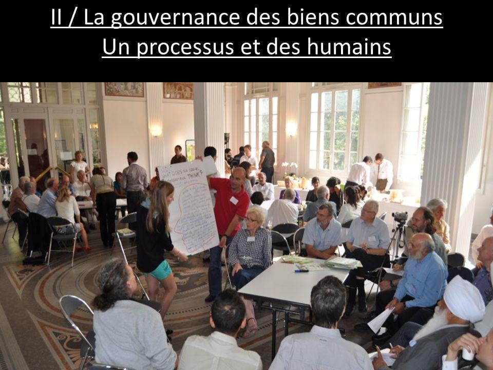 II / La gouvernance des biens communs Un processus et des humains