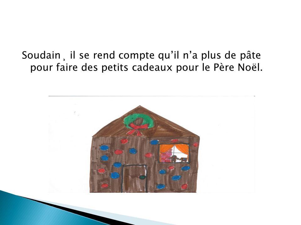 Pépite prend donc un morceau de sa maison pour faire ses petits cadeaux mais sa maison sécroule.