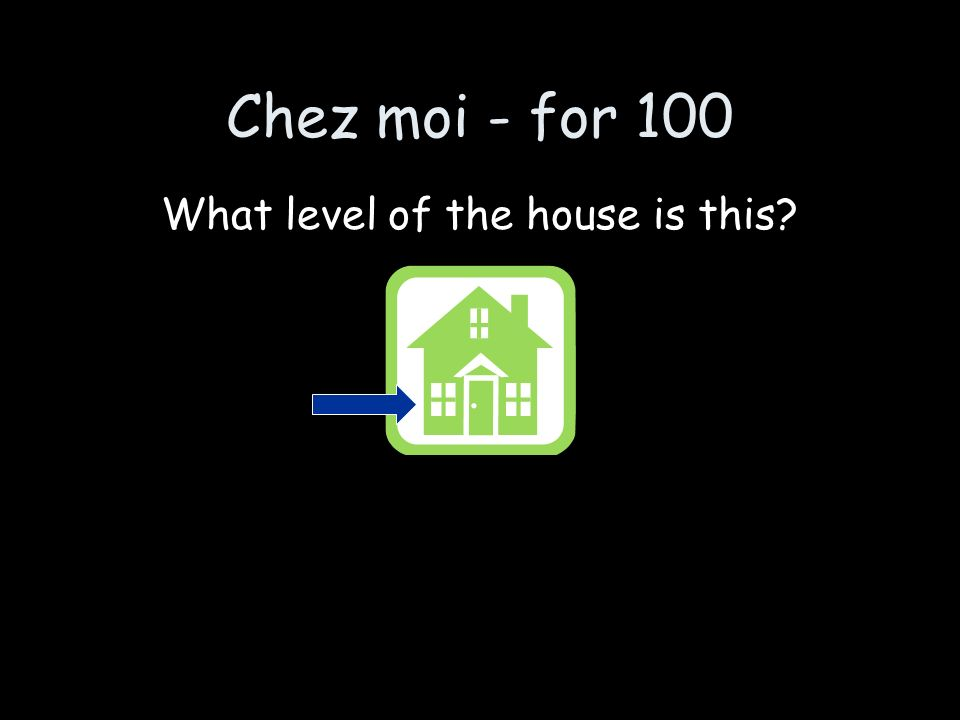 Chez moi - for 100 What level of the house is this