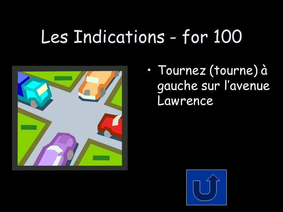 Les Indications - for 100 Tournez (tourne) à gauche sur lavenue Lawrence