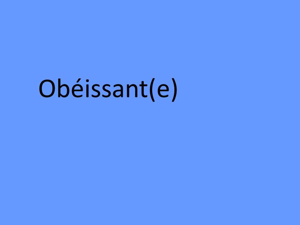 Obéissant(e)