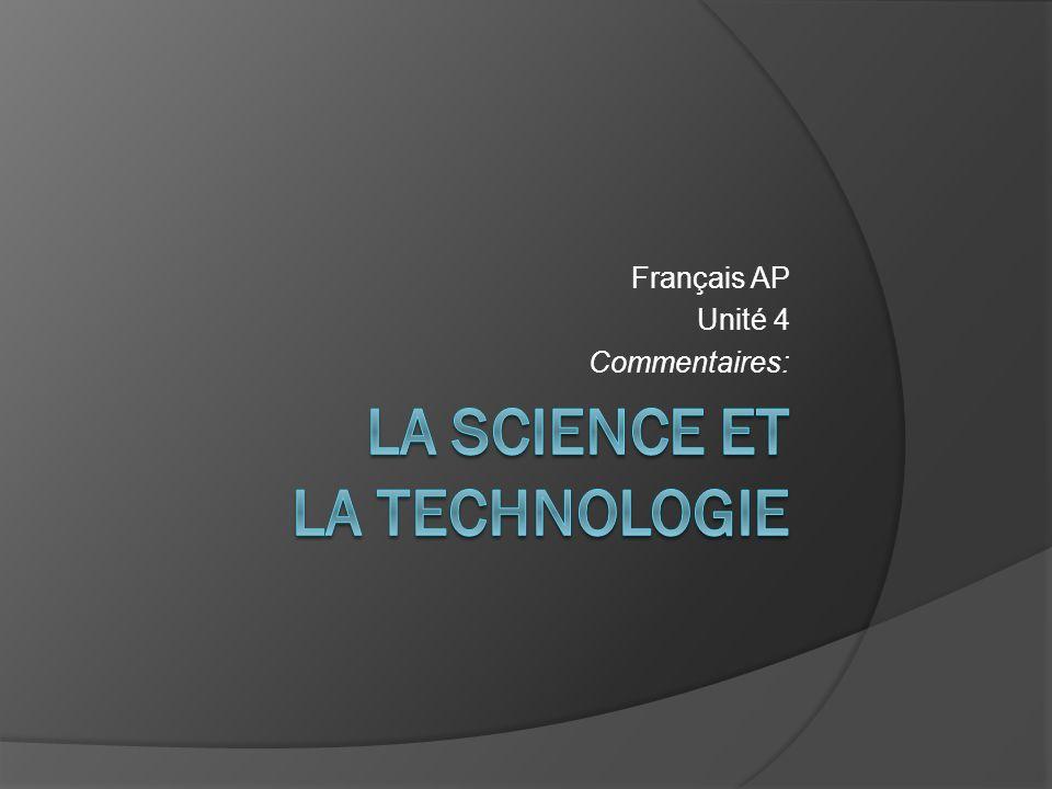 Français AP Unité 4 Commentaires: