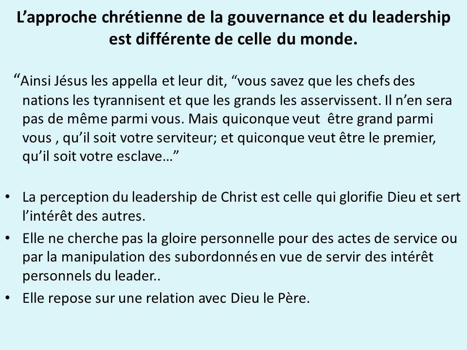 Le bon leadership proclame la fidélité de Dieu.