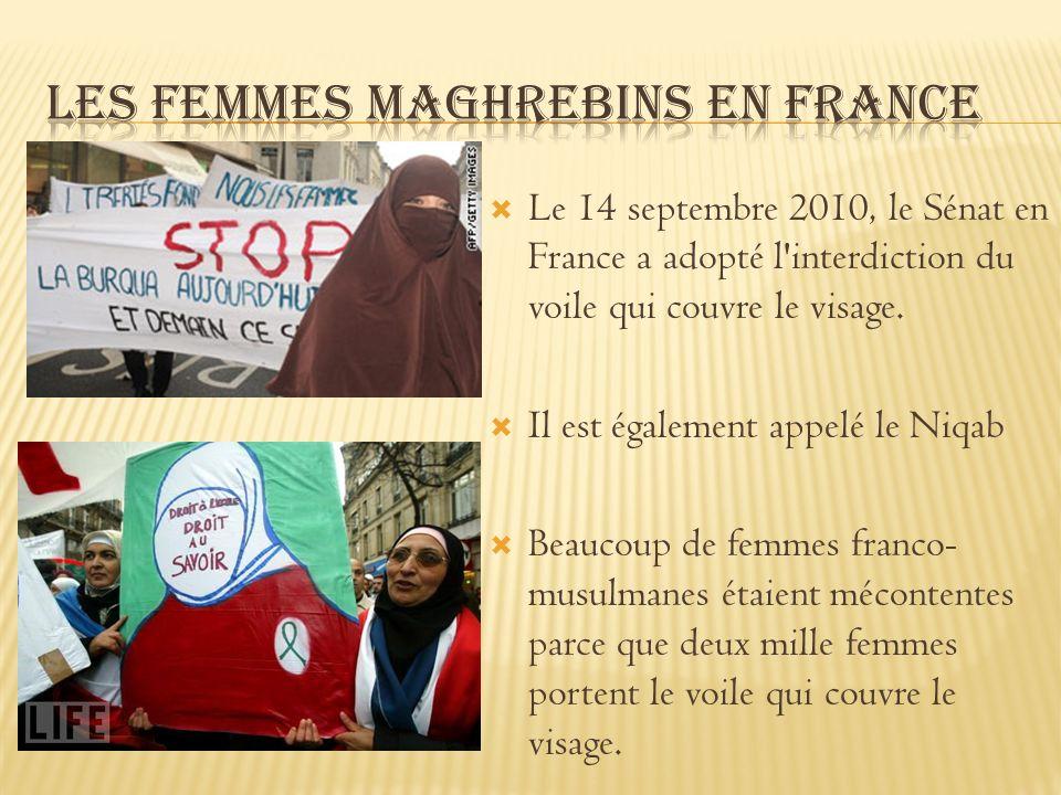 Le 14 septembre 2010, le Sénat en France a adopté l'interdiction du voile qui couvre le visage. Il est également appelé le Niqab Beaucoup de femmes fr