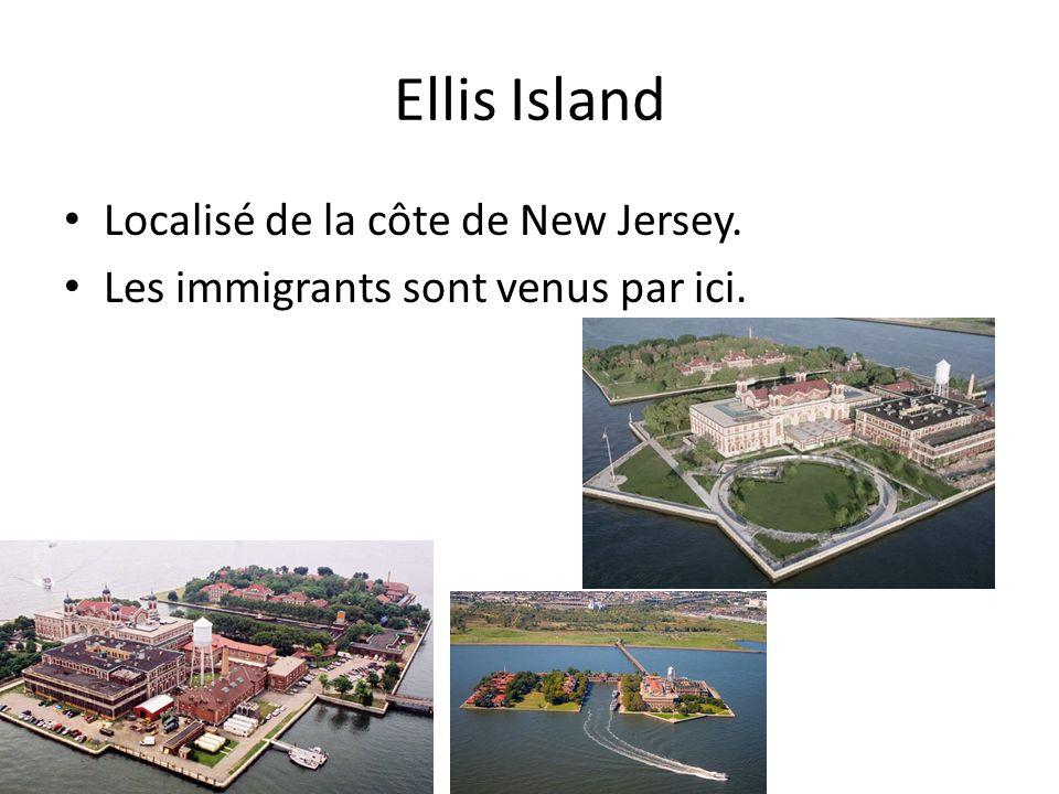 Ellis Island Localisé de la côte de New Jersey. Les immigrants sont venus par ici.