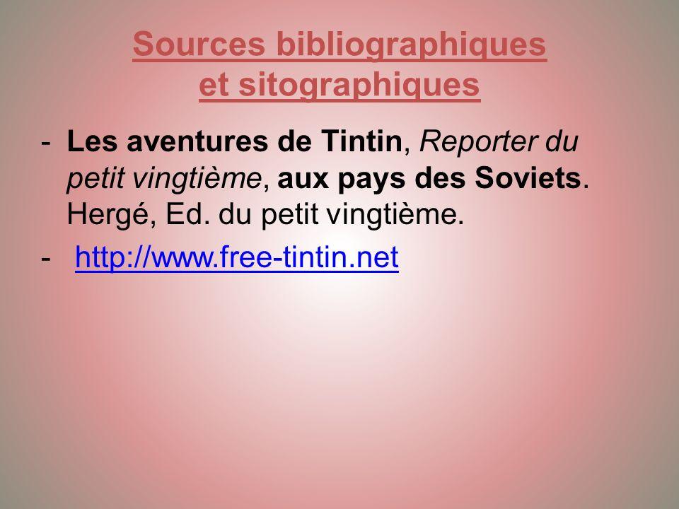 Conclusion Cest le premier album de la série des Bandes Dessinées de Tintin, créé par Hergé en 1929.