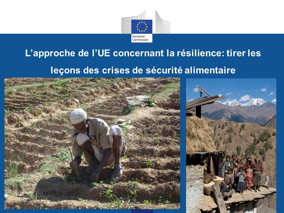 Lapproche de lUE concernant la résilience: tirer les leçons des crises de sécurité alimentaire