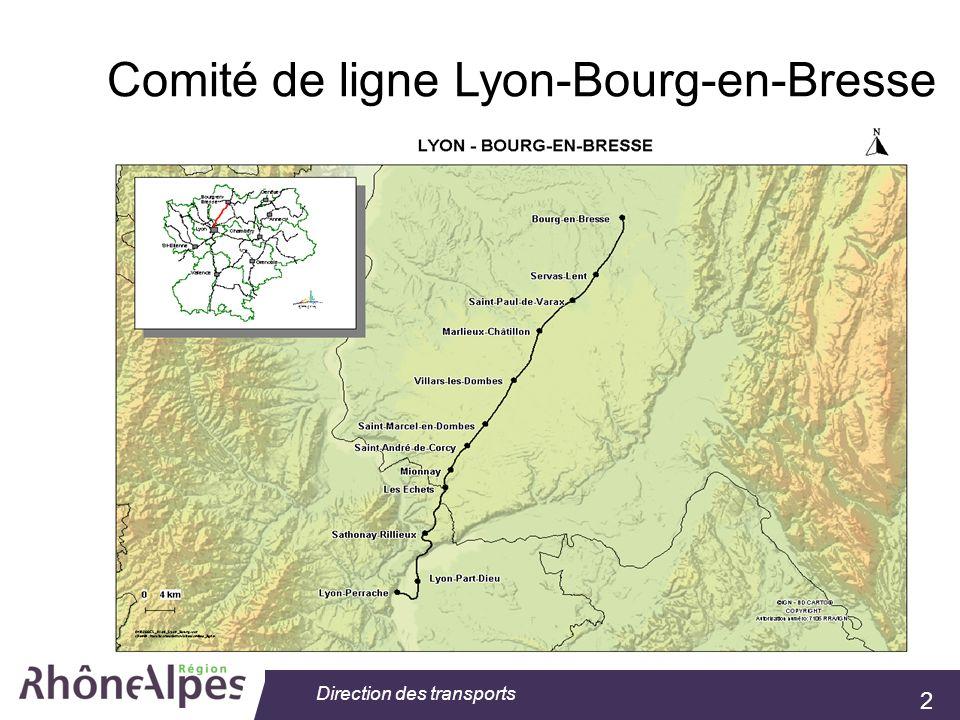 2 Direction des transports Comité de ligne Lyon-Bourg-en-Bresse