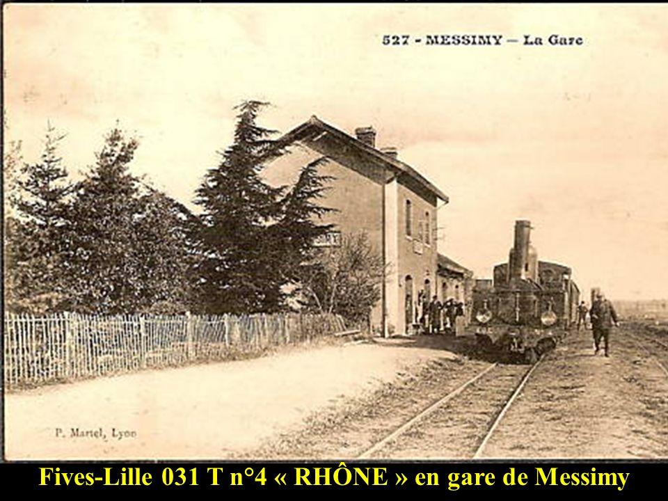 Fives-Lille 031 T arrivant de Mornant sur le viaduc du Furon à lentrée de Soucieu en Jarrest vers 1910