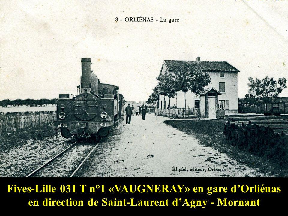 Fives-Lille 031 T n°4 « RHÔNE » en gare de Messimy