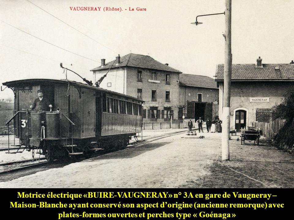 Première génération de motrices: Les « BUIRE-VAUGNERAY » Anciennes remorques de 1886 motorisées en 1898 avec deux moteurs électriques WALKER de 25 che