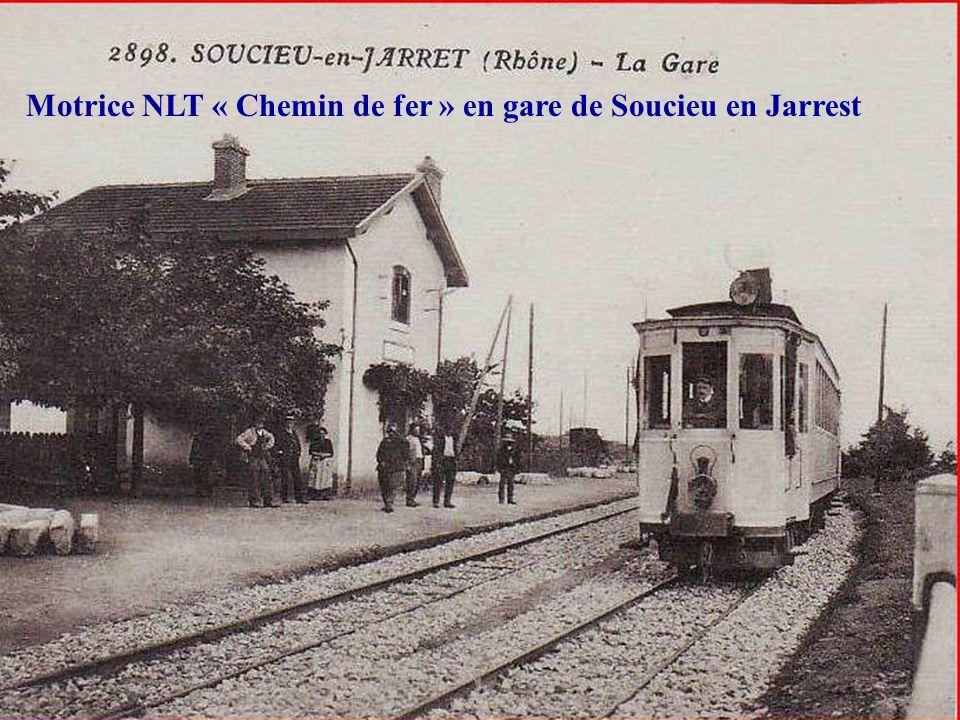 Deuxième génération de motrices: Les NLT « Chemin de fer » Elles étaient équipées de 2 moteurs Général Electric de 42 chevaux soit une puissance de 84