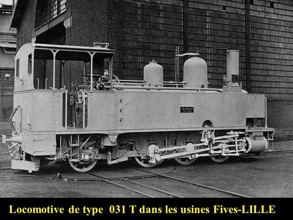 Première génération de locomotives sur notre ligne: Les Fives-Lille 031 T modèle n° 95 6 machines (1 à 6) 1 – « Vaugneray » 2 – « Mornant » 3 – « Crap