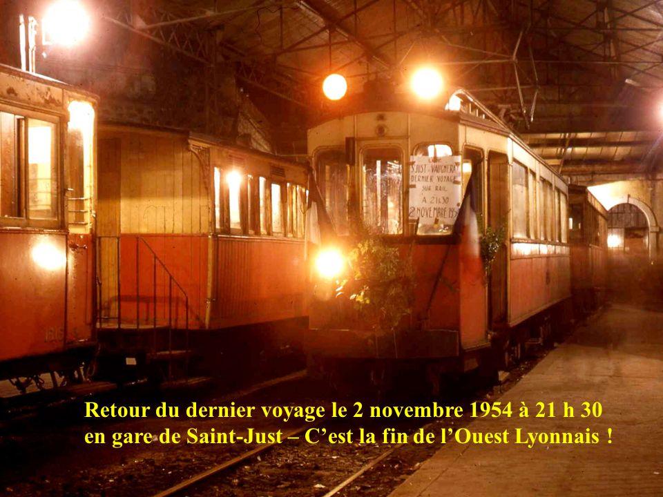 Dernier jour de circulation pour les motrices Manage, le bus OTL n° 37 va désormais les remplacer - 2 novembre 1954