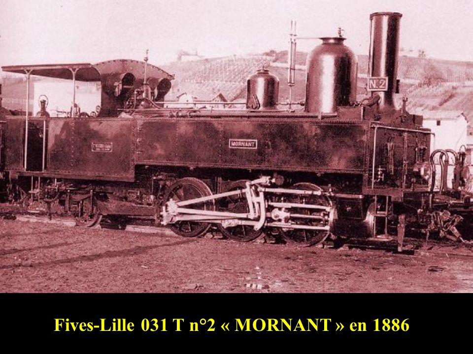 Fives-Lille 031 T n°1 « Vaugneray » en gare de Francheville-Alaï