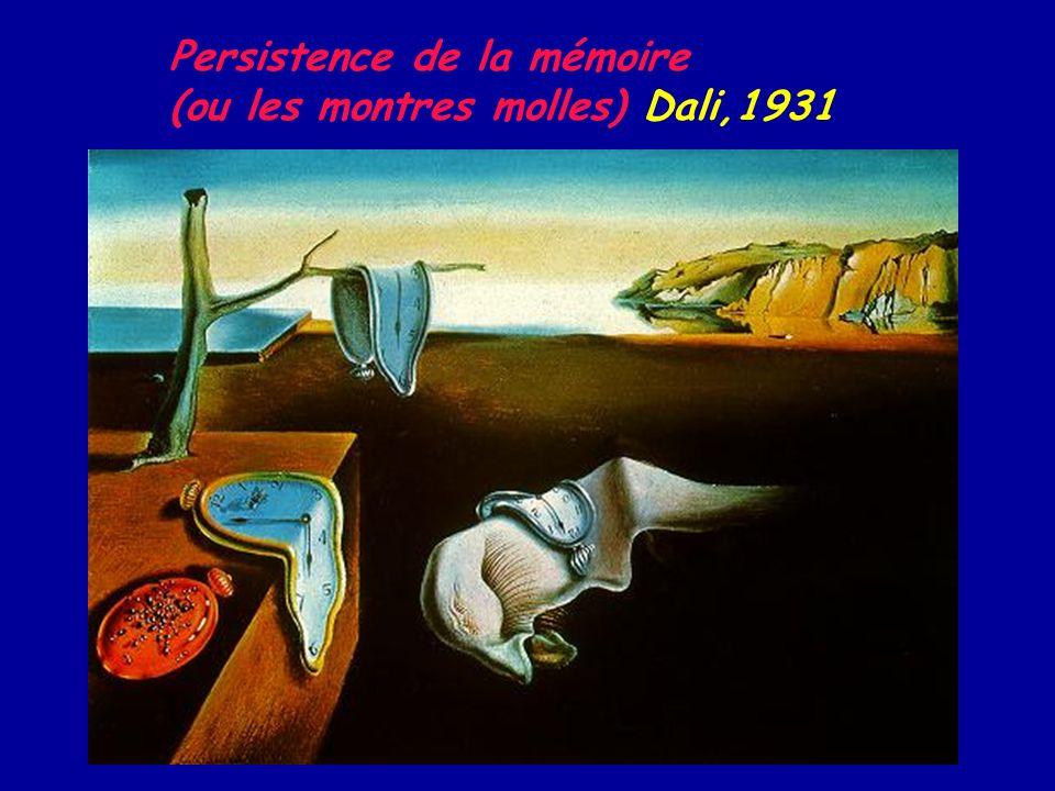 Persistence de la mémoire (ou les montres molles) Dali,1931