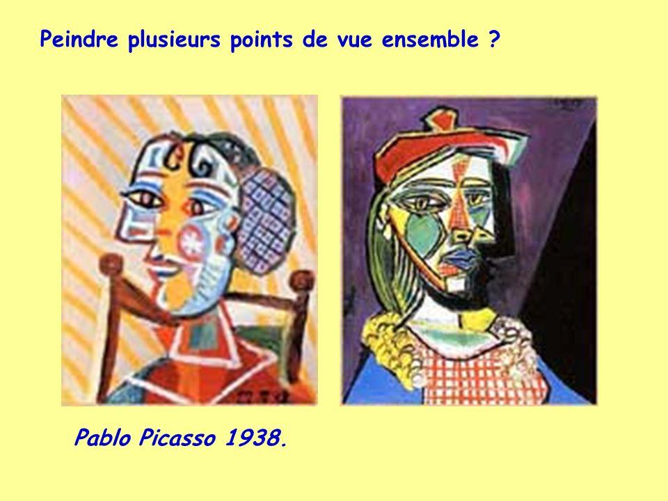 Pablo Picasso 1938. Peindre plusieurs points de vue ensemble ?