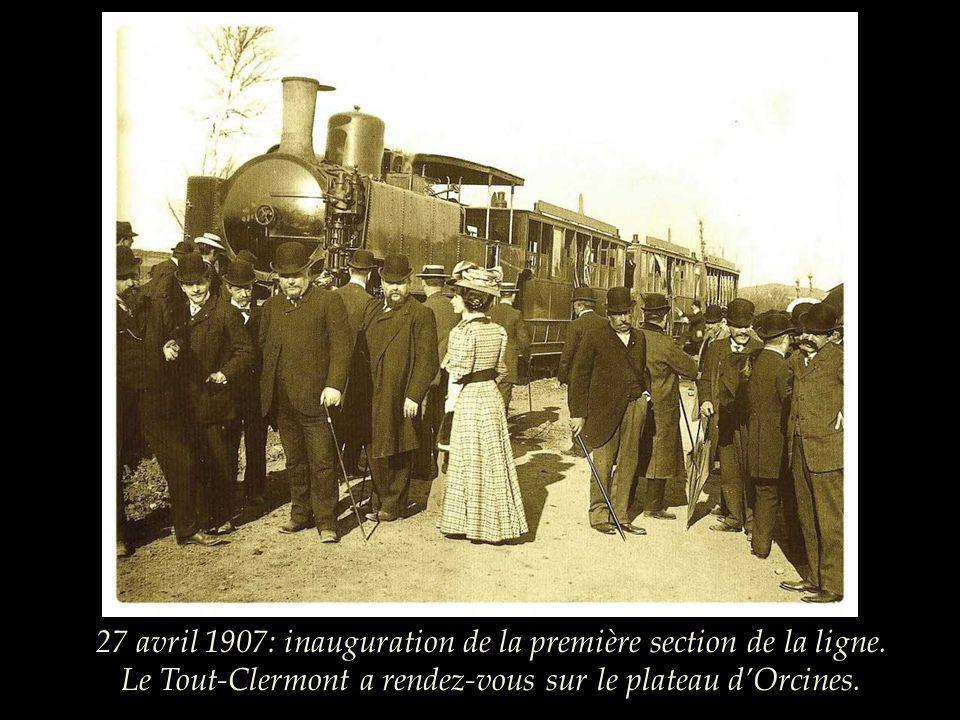 Lidée de construire un petit train pour escalader les pentes du Puy de Dôme fit alors son chemin et en 1886, le conseil général décida de tenter laven