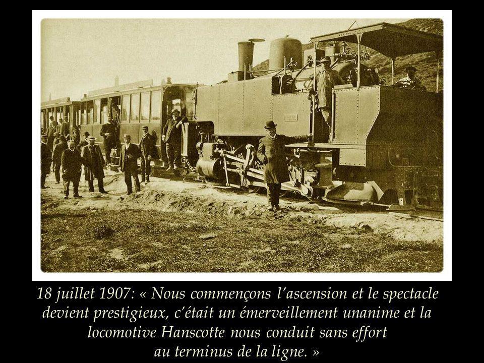 27 avril 1907: inauguration de la première section de la ligne. Le Tout-Clermont a rendez-vous sur le plateau dOrcines.